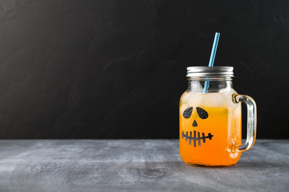 Pumpkin cocktail halloween craft ideas