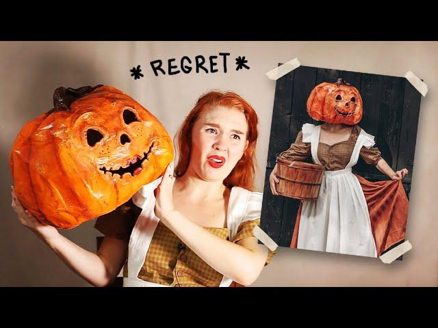 Pumpkin lady halloween characters
