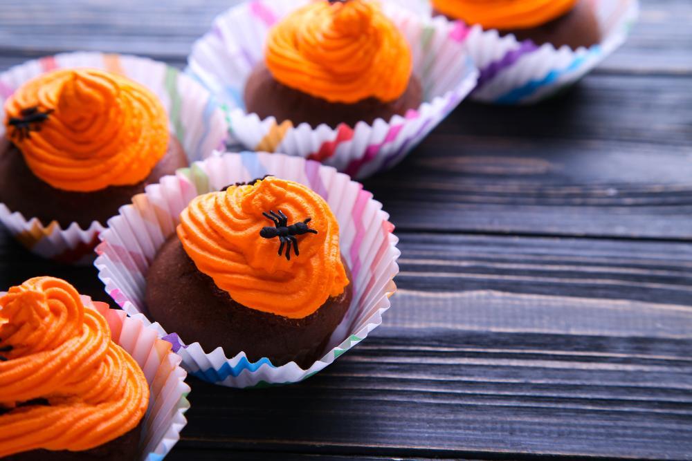Pumpkin spider cupcakes funny spider