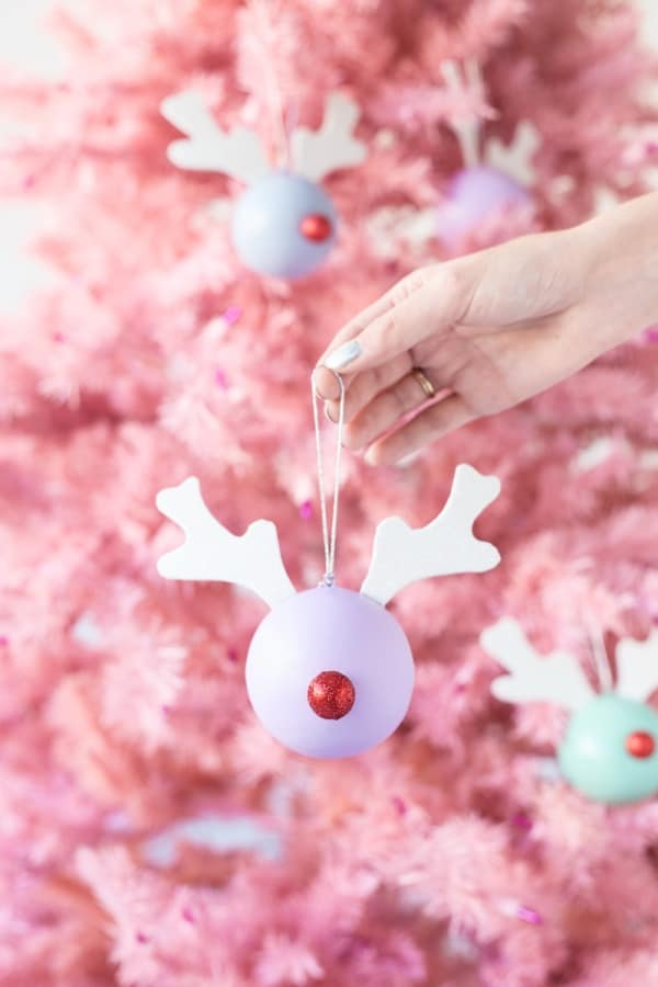 Rudolph ornaments diy