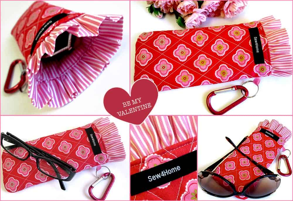 Ruffled edge glasses case