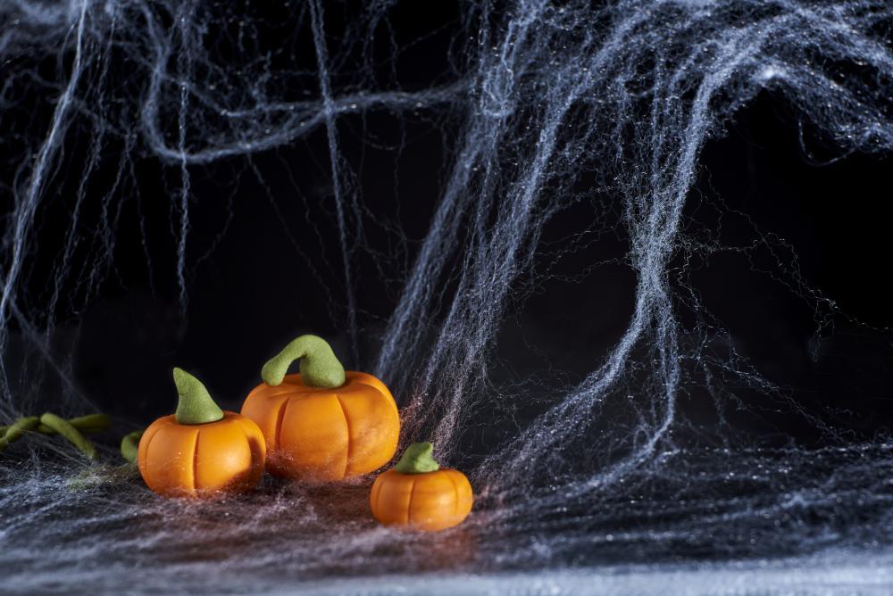 Sidewalk spiderwebs halloween spider web