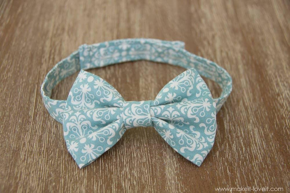 Simple velcro strap bow tie