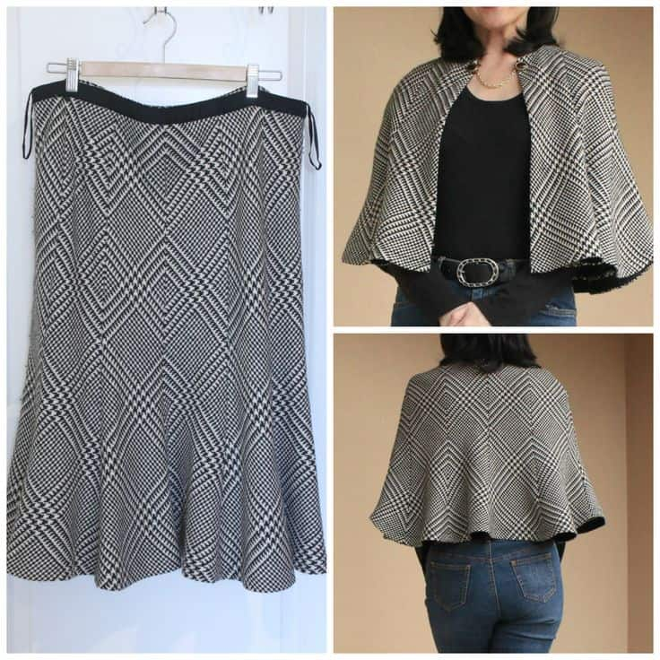 Skirt to capelet
