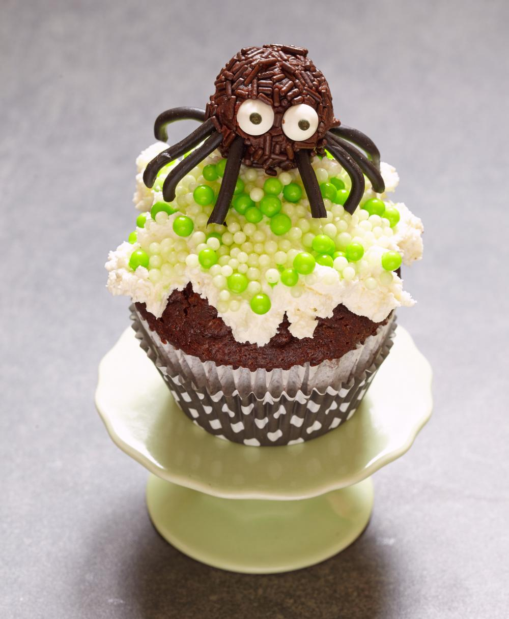 Spider egg cupcakes halloween spider
