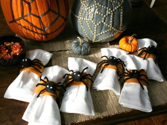 Spider web napkin rings spider cut out