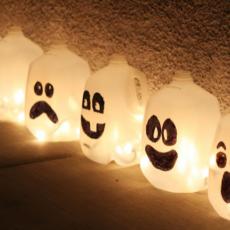 Spooky milk jug walkway