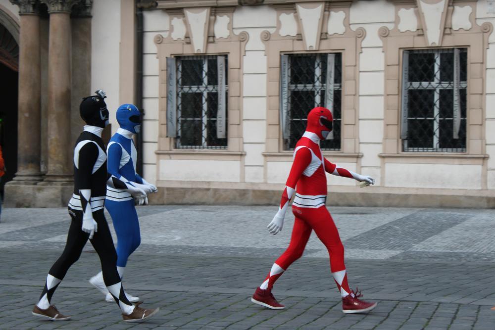 Power rangers old town square prague, czech republic