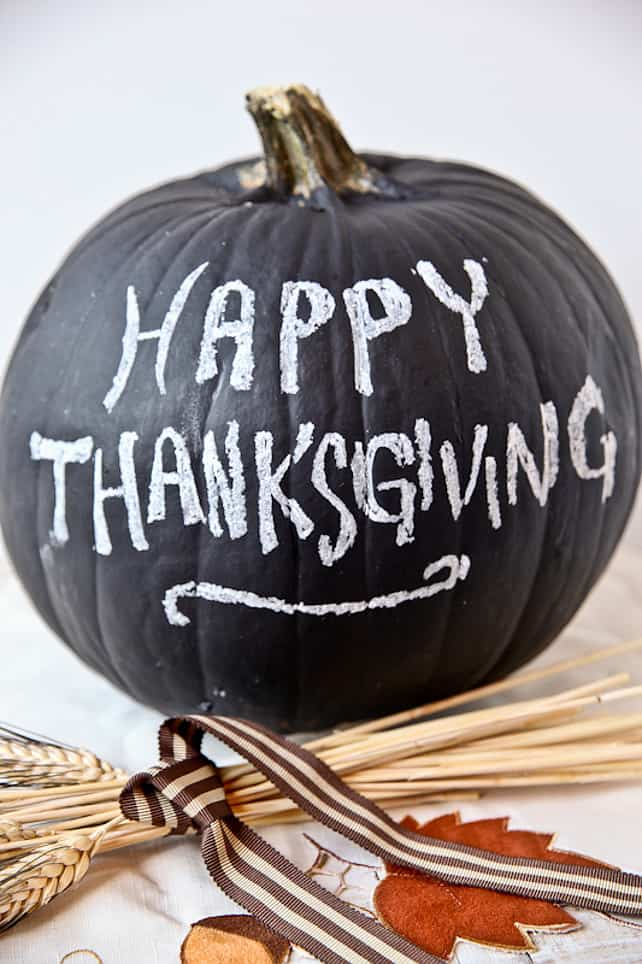 Thanksgiving ideas chalkboard pumpkins thanksgivingideas via better recipes