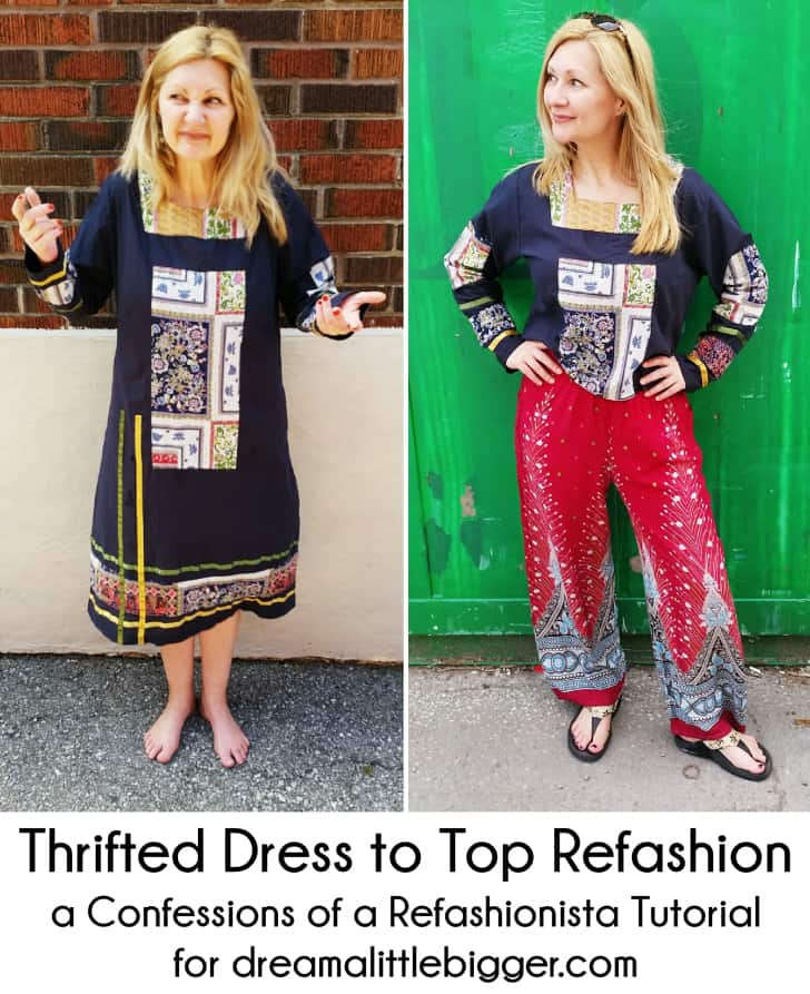 Thrift dress to casual top
