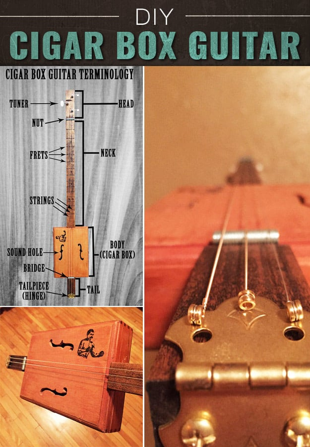 Tiny cigar box guitar