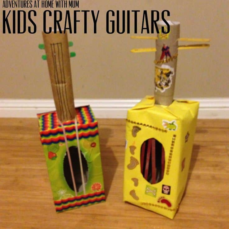 Super Fun Guitar Themed Crafts