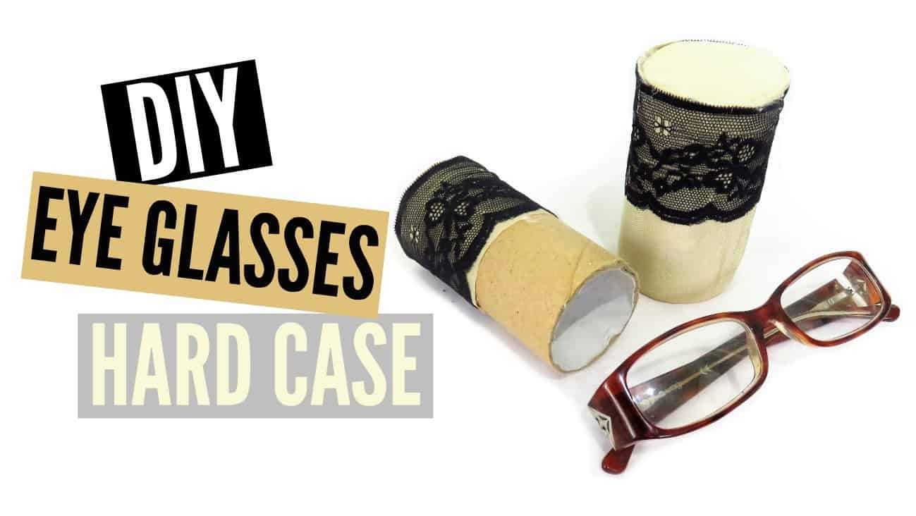 Toilet roll hard glasses case