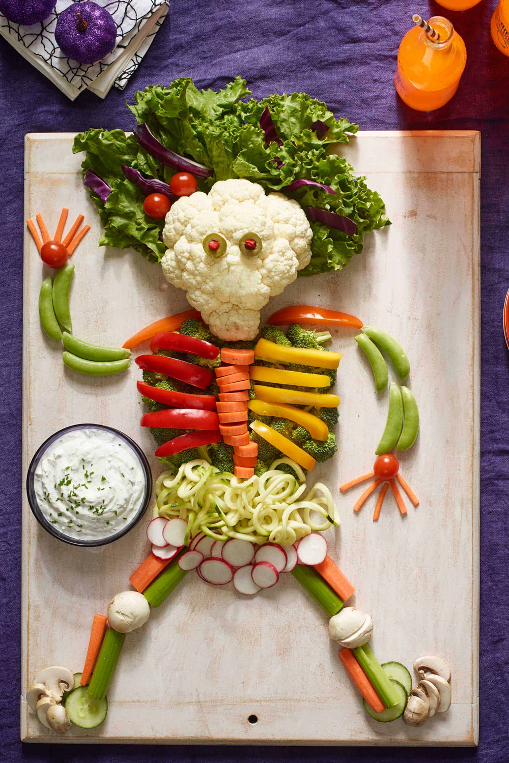 Vegetable platter skeleton