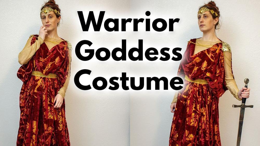Warrior greek goddess costume halloween costume