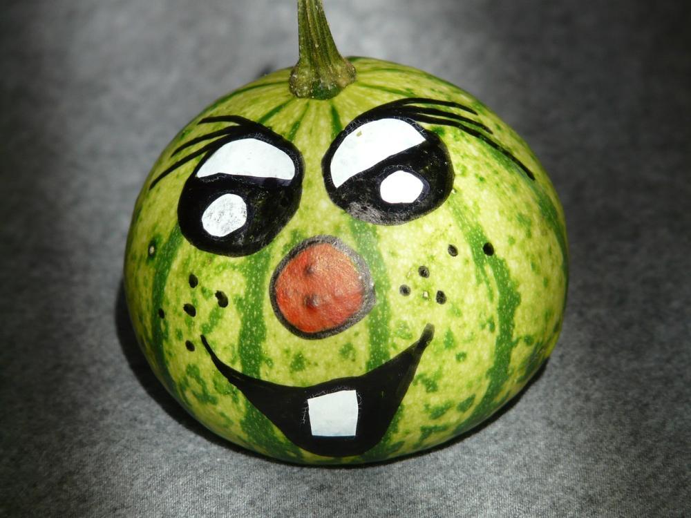Watermelon halloween pumpkin