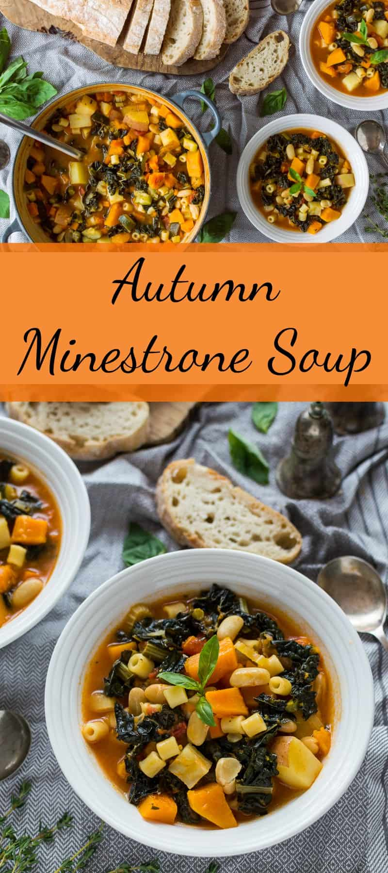 Autumn minestrone soup pinterest