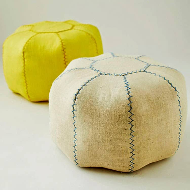 Beanbag pouf diy