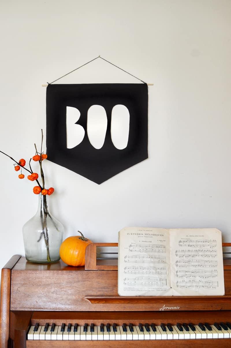 Boo banner diy