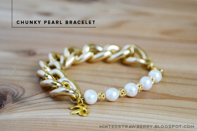 Chunky pearl bracelet diy