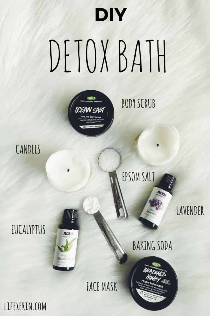 Detox bath with eucalyptus