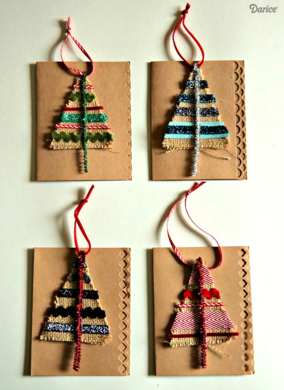 Diy burlap scrap christmas tree