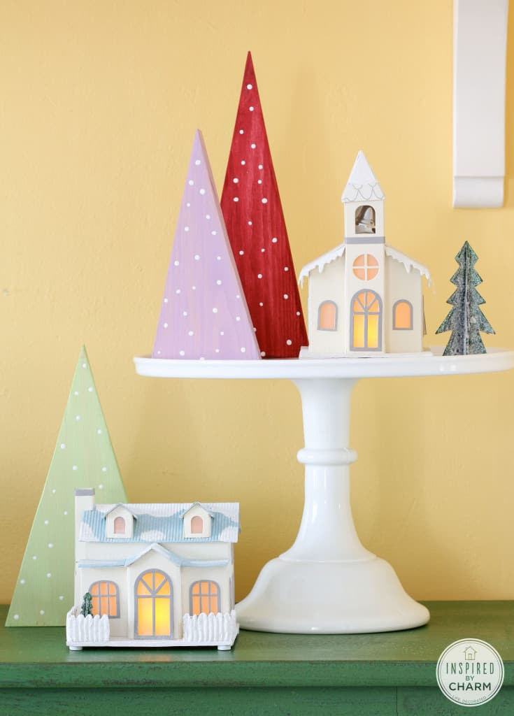 Diy colorful diy forest and town