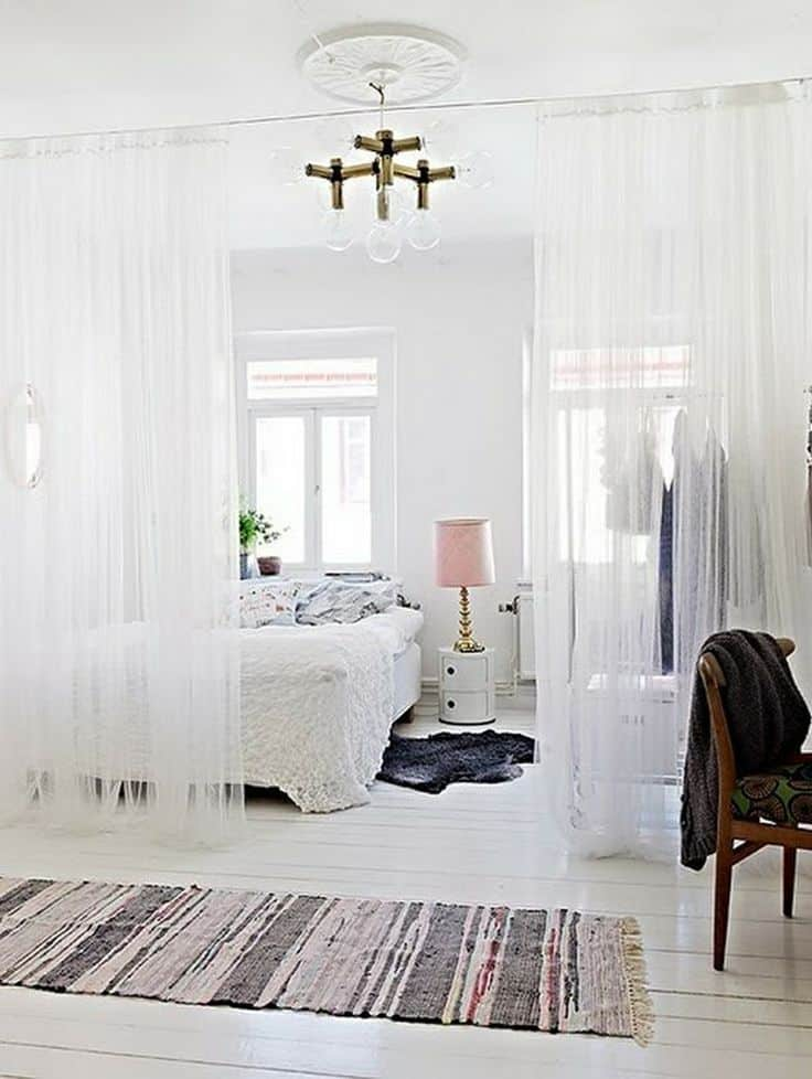 curtain room dividers 15 diy room dividers to style organize and conquer your space 11126
