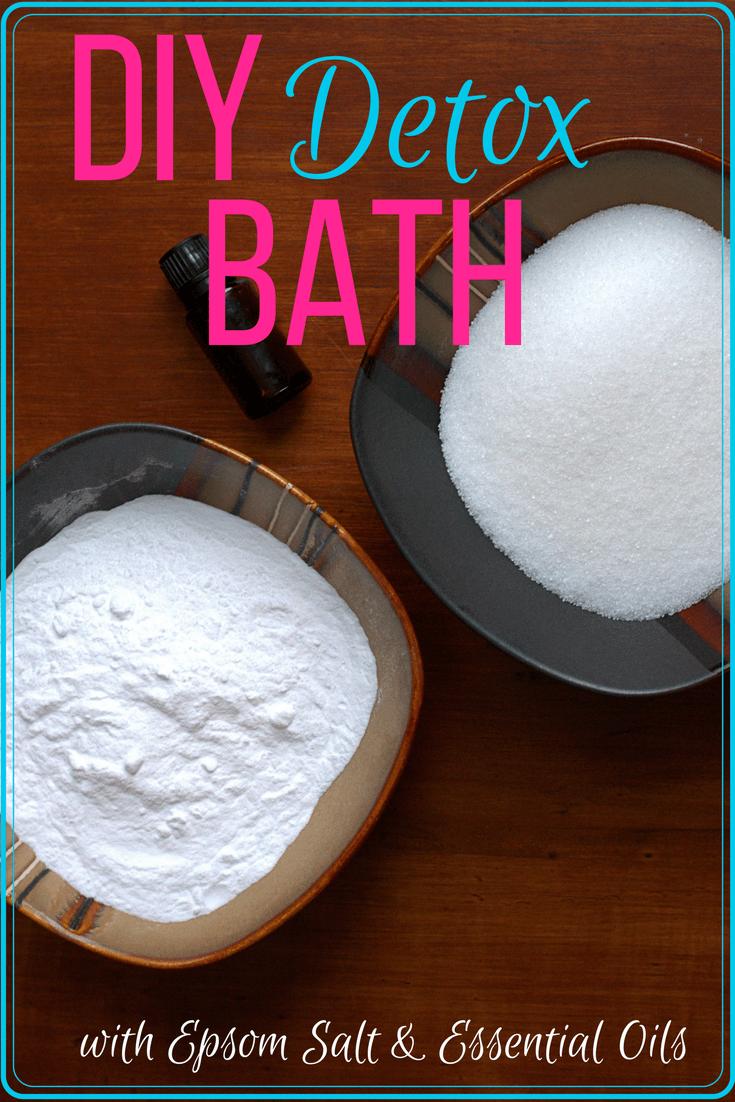 Diy detox bath with epsom salt