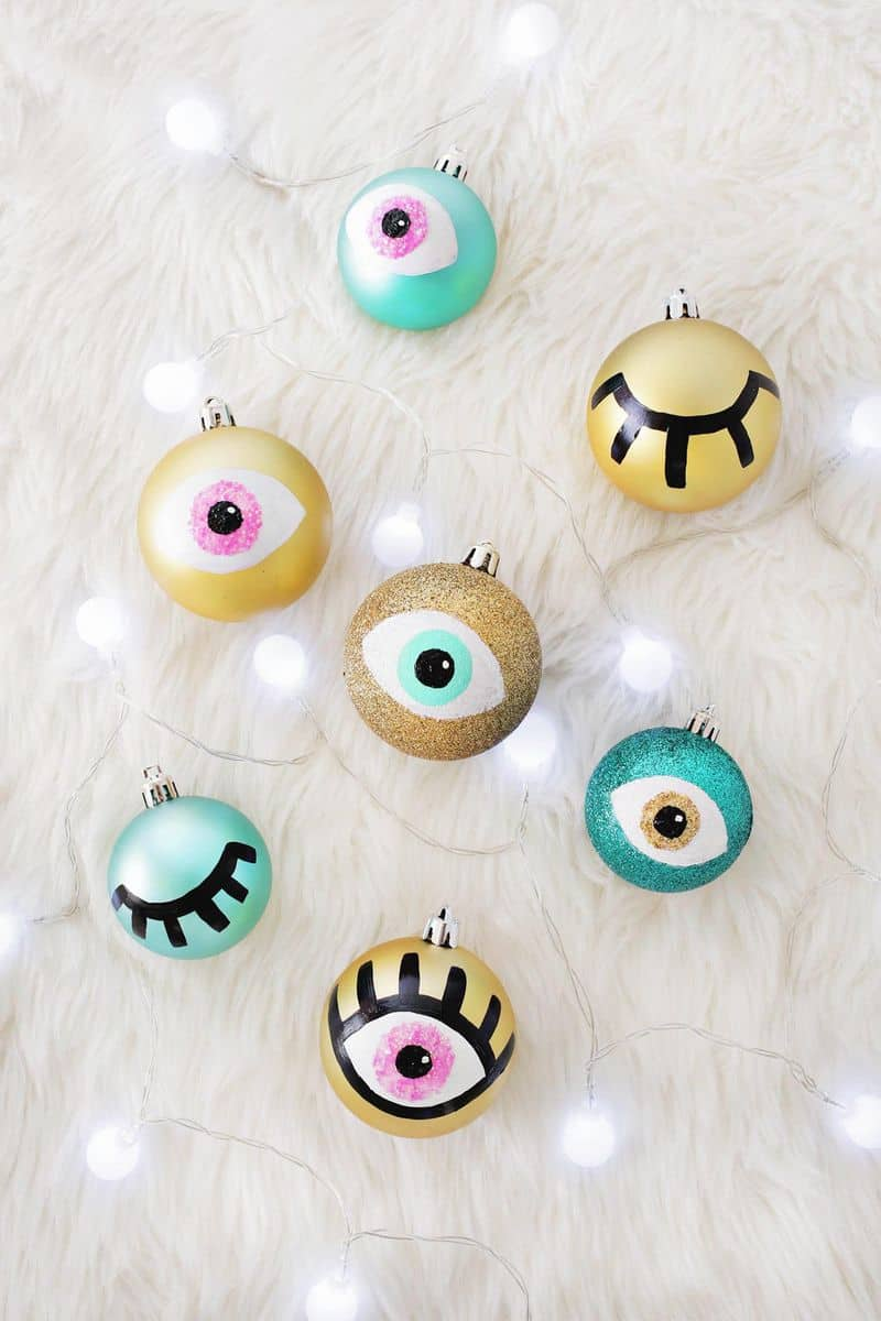 Diy eye ornament