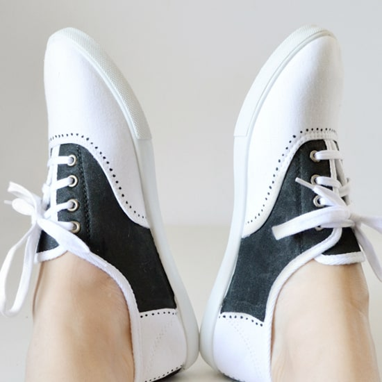 Diy faux saddle shoes