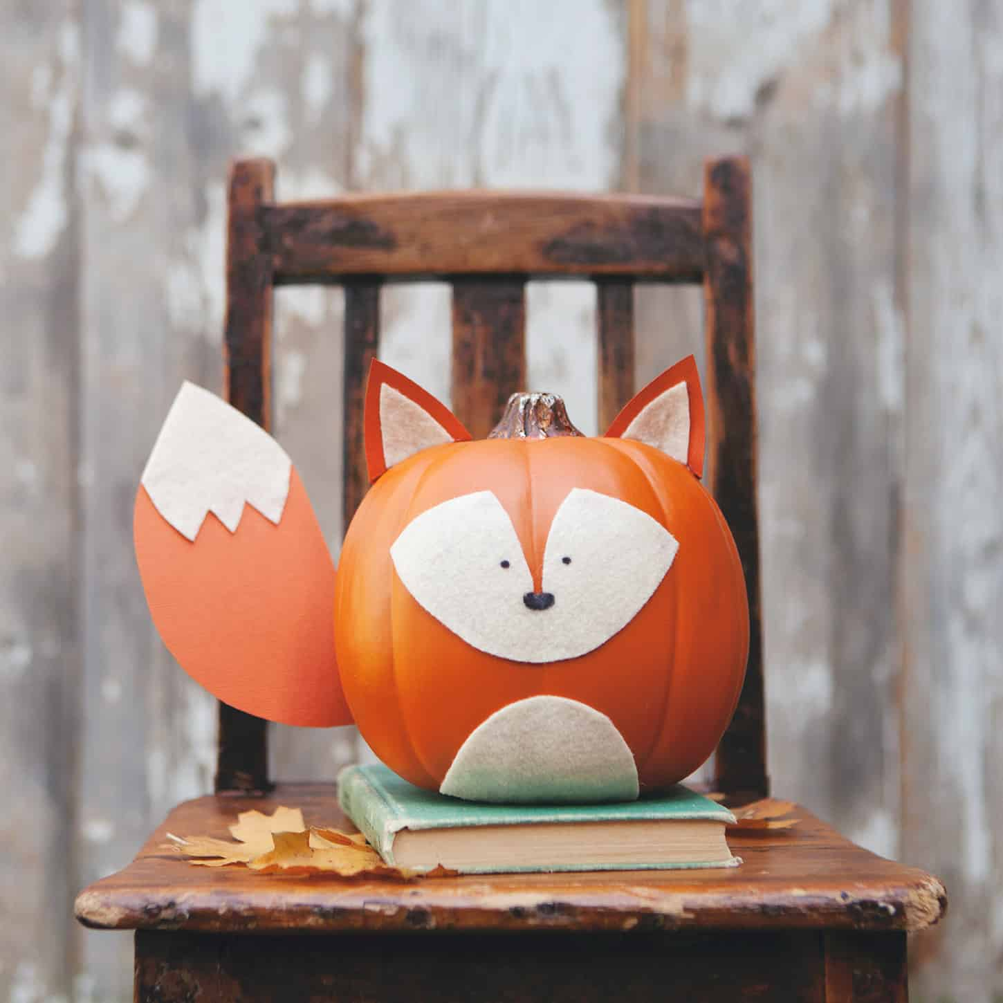 Diy fox pumpkin