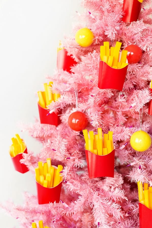 Diy french fry ornaments
