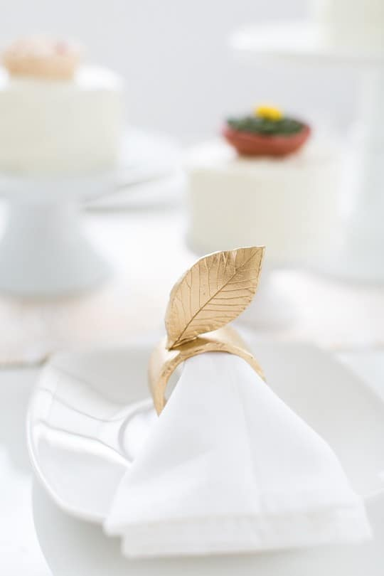 Diy gold napkin rings