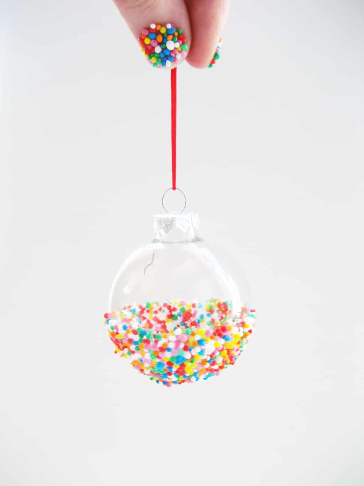 Diy how to make sprinkles ornaments 1