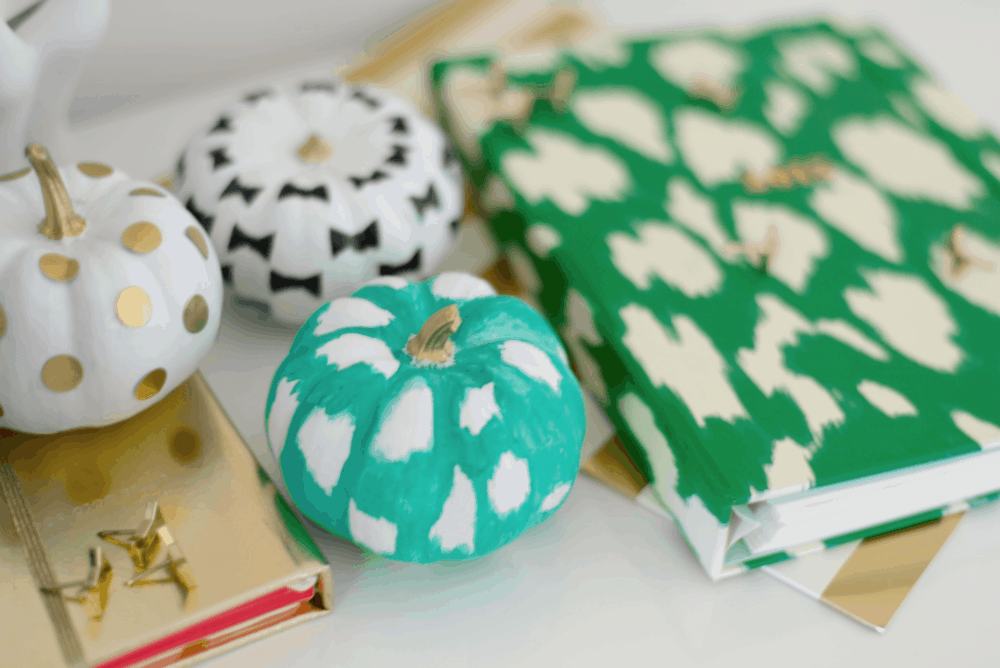 Diy kate spade inspired pumpkins