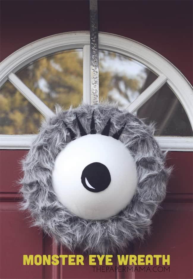 Halloween Door Decoration Idea: Giant Monster Eye