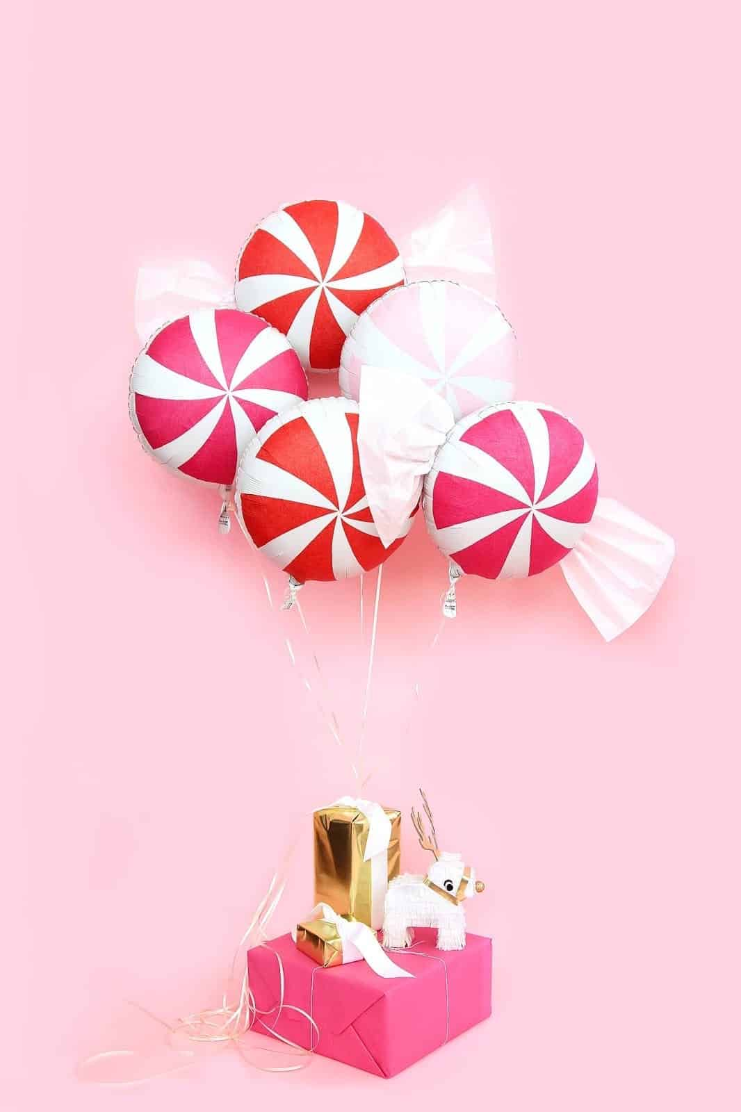 Diy peppermint candy balloons