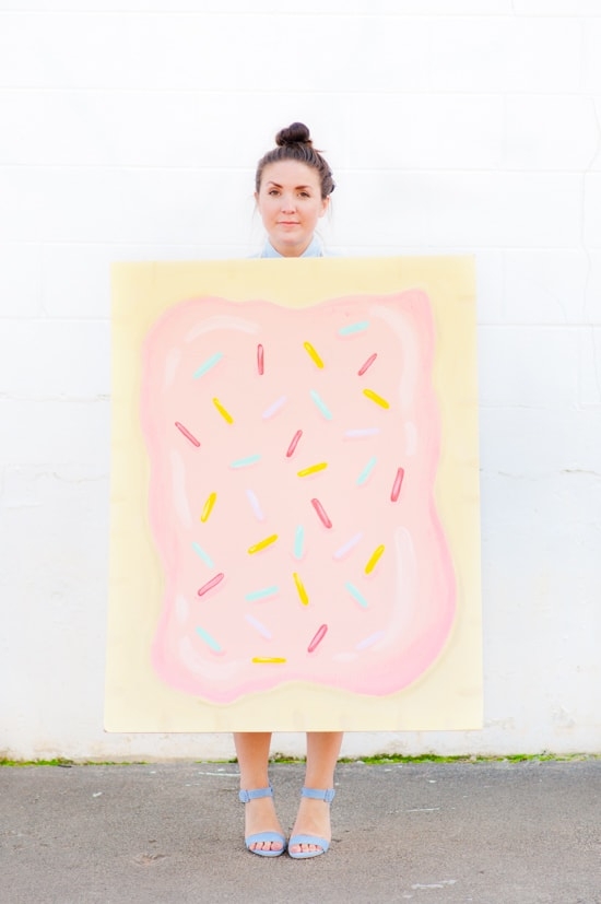 Diy pop tart halloween costume