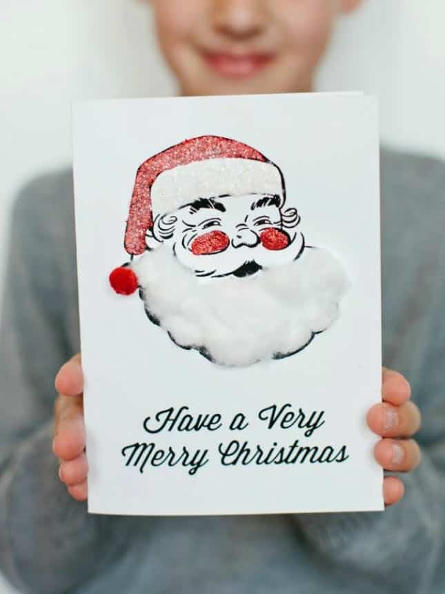 Diy printable santa card