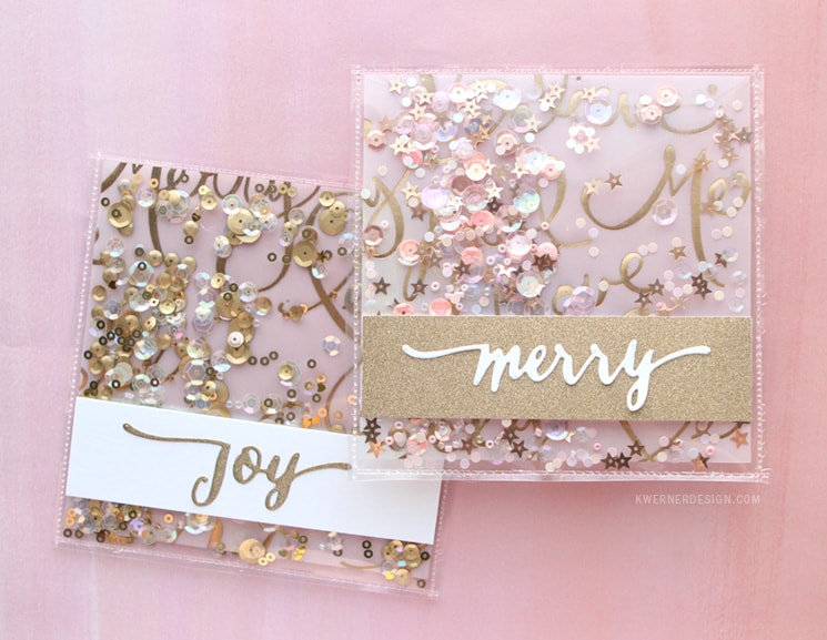 Diy sequins christmas card