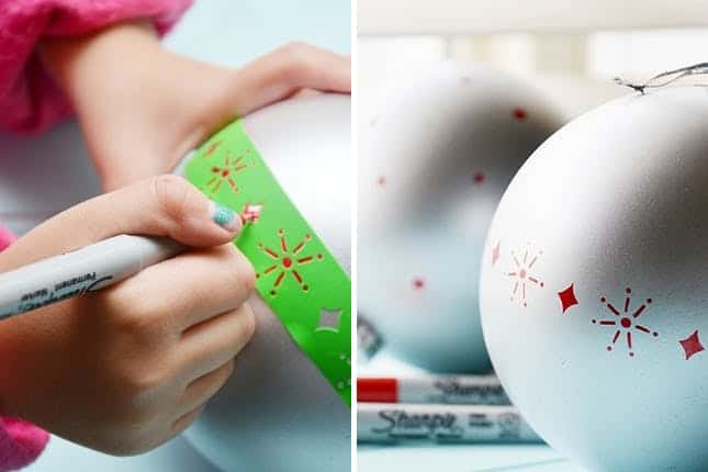 Diy sharpie christmas ornaments