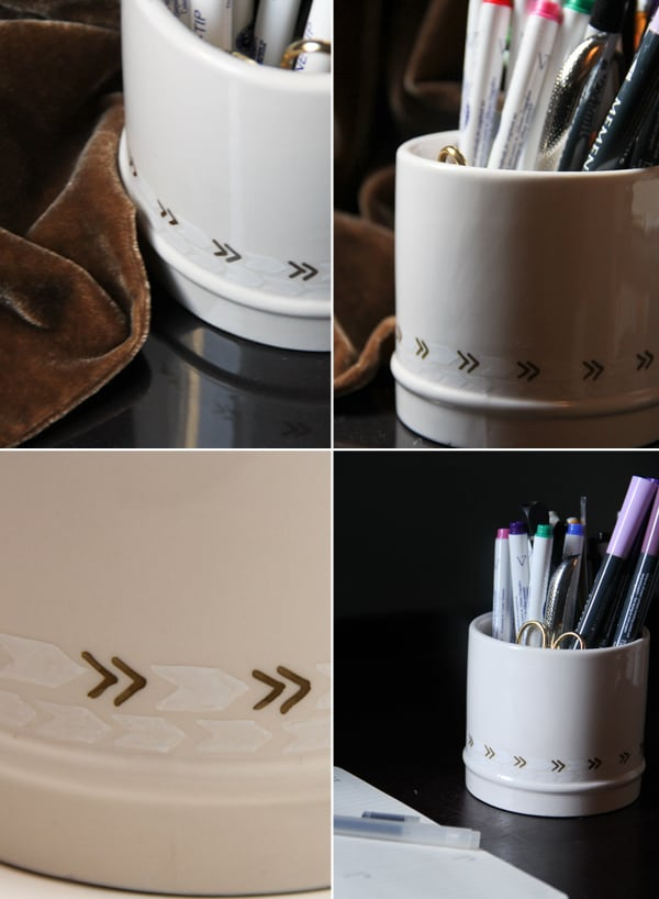 Diy sharpie pencil cup