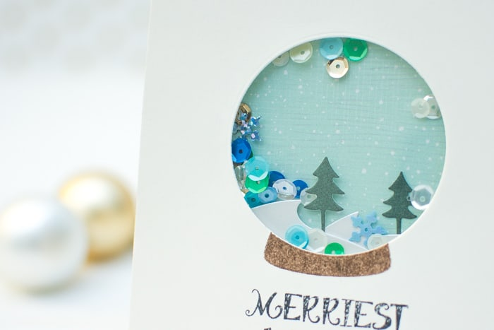 Diy snow globe shaker cards
