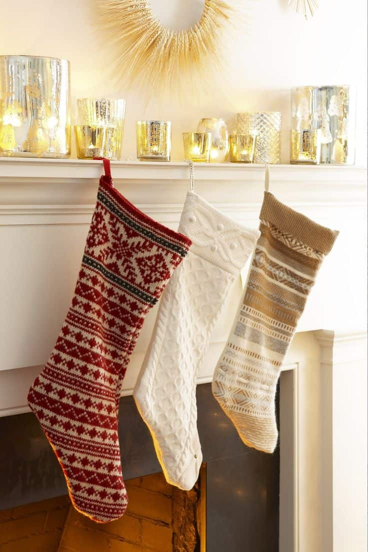15 DIY Christmas Stockings To Hang On The Mantle This Year
