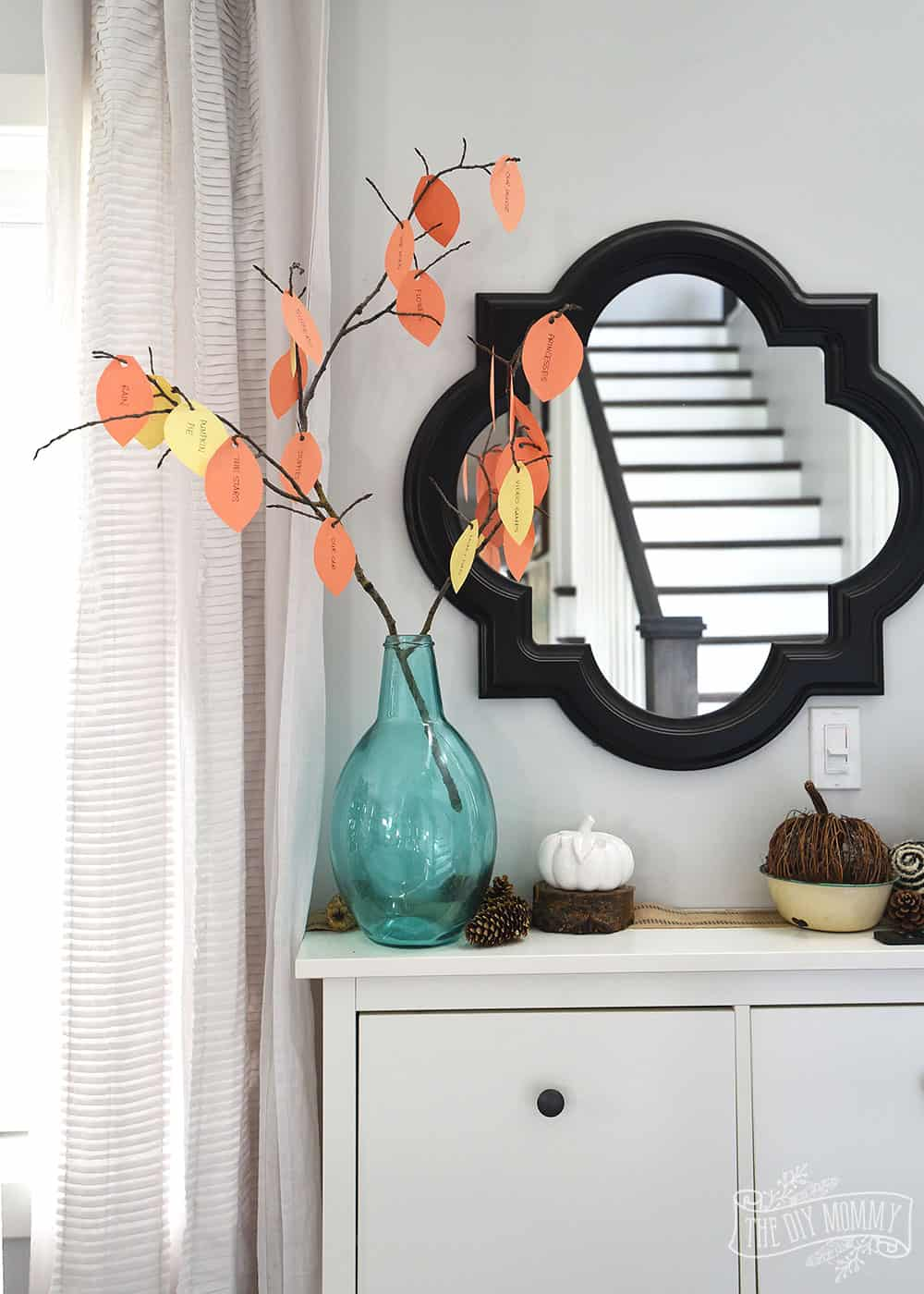 Diy thankful tree