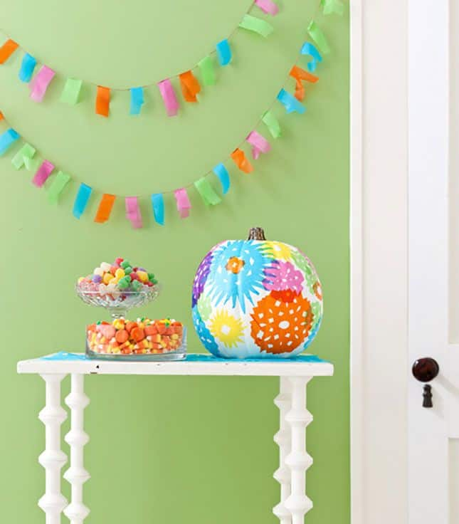 Diy tissue paper pumpkin