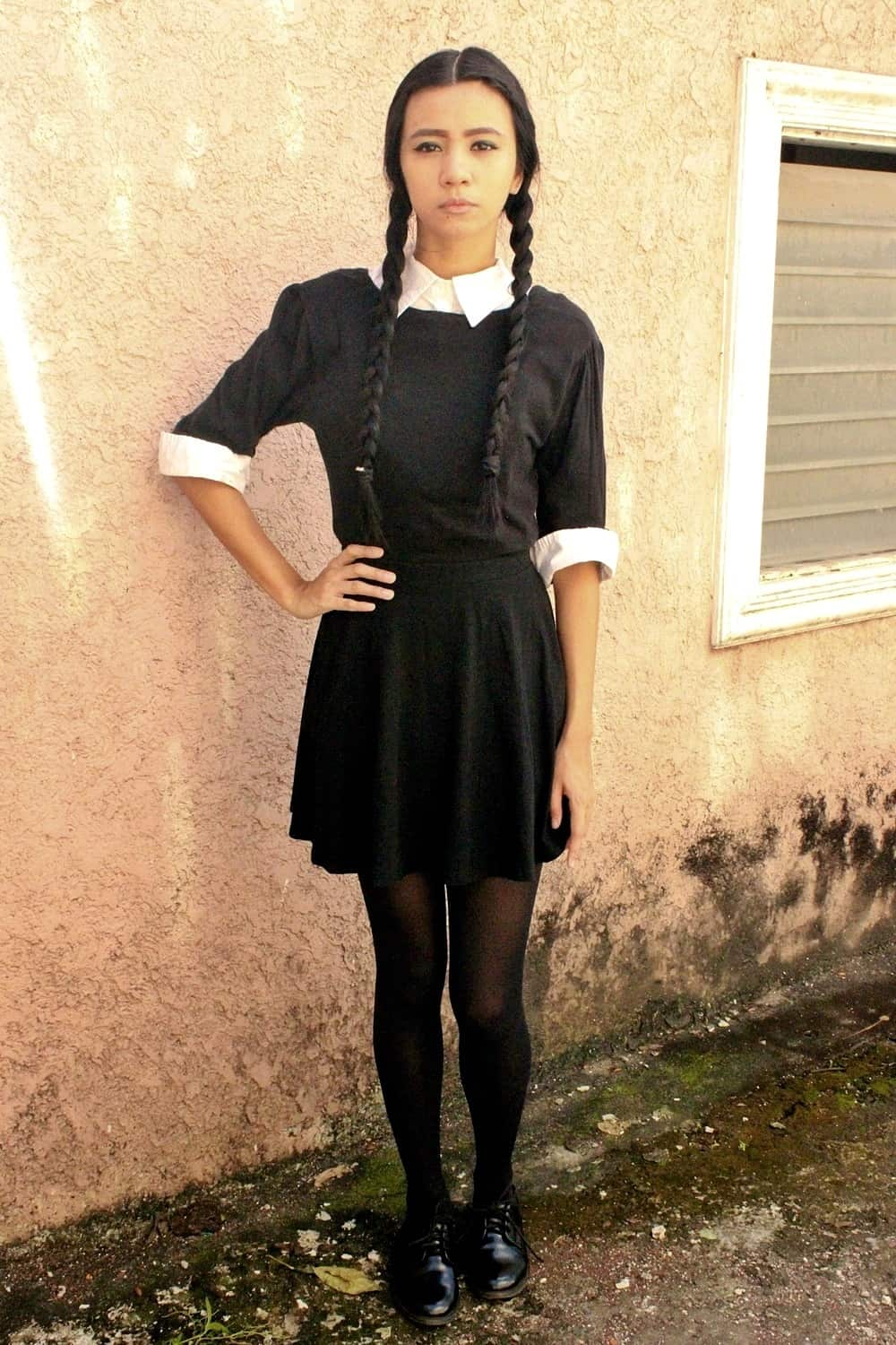 Diy wednesday addams costume halloween