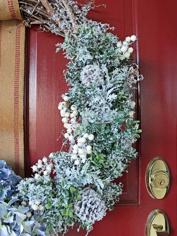 Diy winter wreath