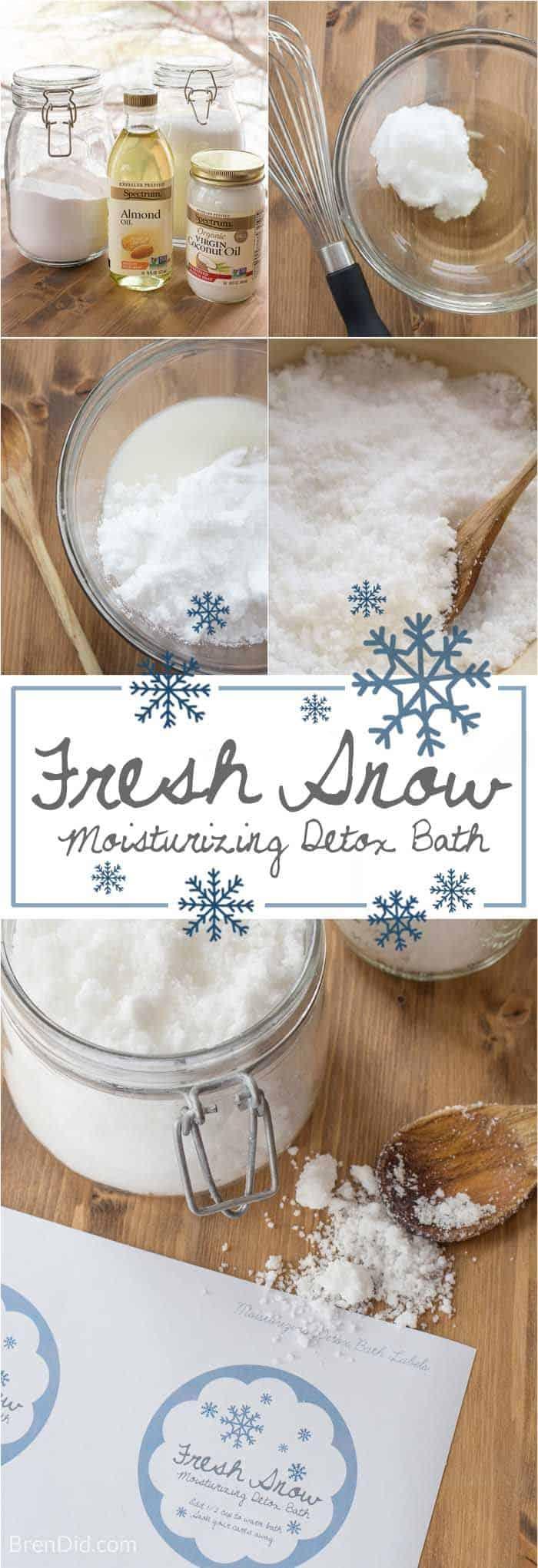 Fresh snow moisturizing detox bath